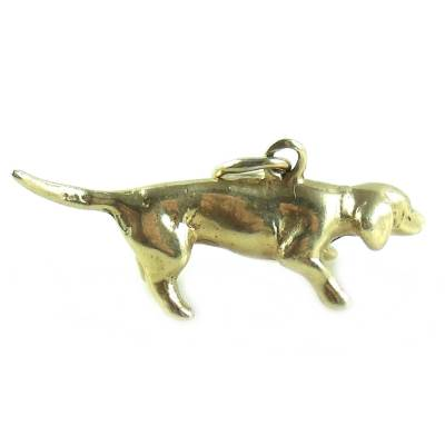 14K gold Dachshund Dog Charm