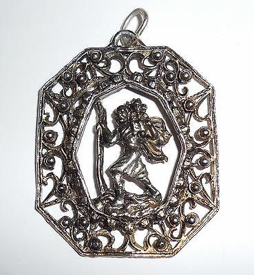 Older Vintage Pot Metal Fancy Moses Biblical Pendant For Necklace