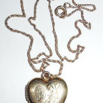 Vintage Art Deco 12k Gold Filled Fancy Letter J Heart Locket Pendant Necklace