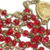 Vintage Old Red Italian Glass Child Youth Rosary Beads Christian Catholic