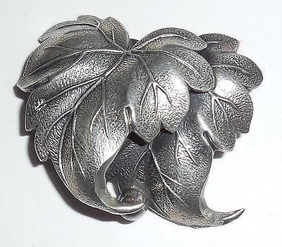 Vintage Beau Sterling Silver Wind Blown Twin Maple Leaf Pin