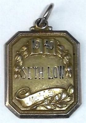 Antique Art Deco 10k Gold Filled Pendant Charm Fob Is 96 Seth Low Jr Hs Brooklyn Nyc