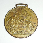 Antique Victorian 1889 French Exposition Universelle France Mens Brass Medal Fob