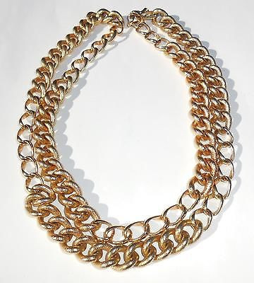 Big Runway Vintage Chunky 39 Inch Long Napier Chain Necklace