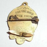 Antique Military Jewelry 1918 Brass World War 1 Wwi Bowling Pendant Pin For The Boys Over There
