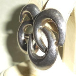 Sterling Silver Modernist Double Crescents Pierced