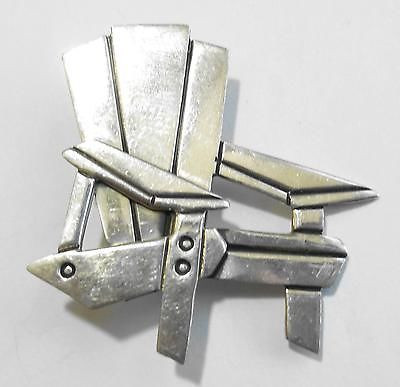 Retired Far Fetched Sterling Silver Stylized Adirondack Chair Pin Discontinued