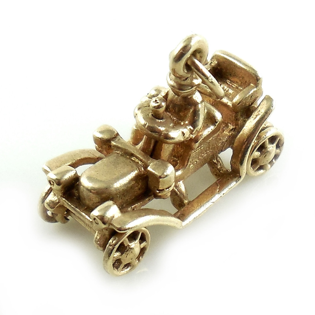 14K Gold Ford Model T Charm Late Art Deco
