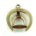 Small Southwestern 14k Gold Good Luck Horseshoe Stirrup Charm