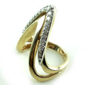Large Vintage 14k Yellow Gold .5 Ct Vs Quality Long Diamond Ring Size 7