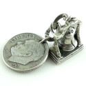 Vintage Sterling Liberty Bell Coin Silver 10 Cent Dime Charm