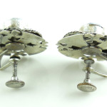 Vintage 980 Sterling Silver Crusader Pentecostal Cross Screwback Earrings Hand Made
