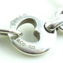 1999 Tiffany & Co 925 Sterling Silver Open Heart Link Bracelet Size 7
