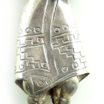 Chunky Heavy Vintage Rosi Mexican Sterling Silver Charm Bracelet W Big Figure