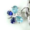 Heavy 48gr Sterling Silver Enameled Charm Bracelet Born To Shop