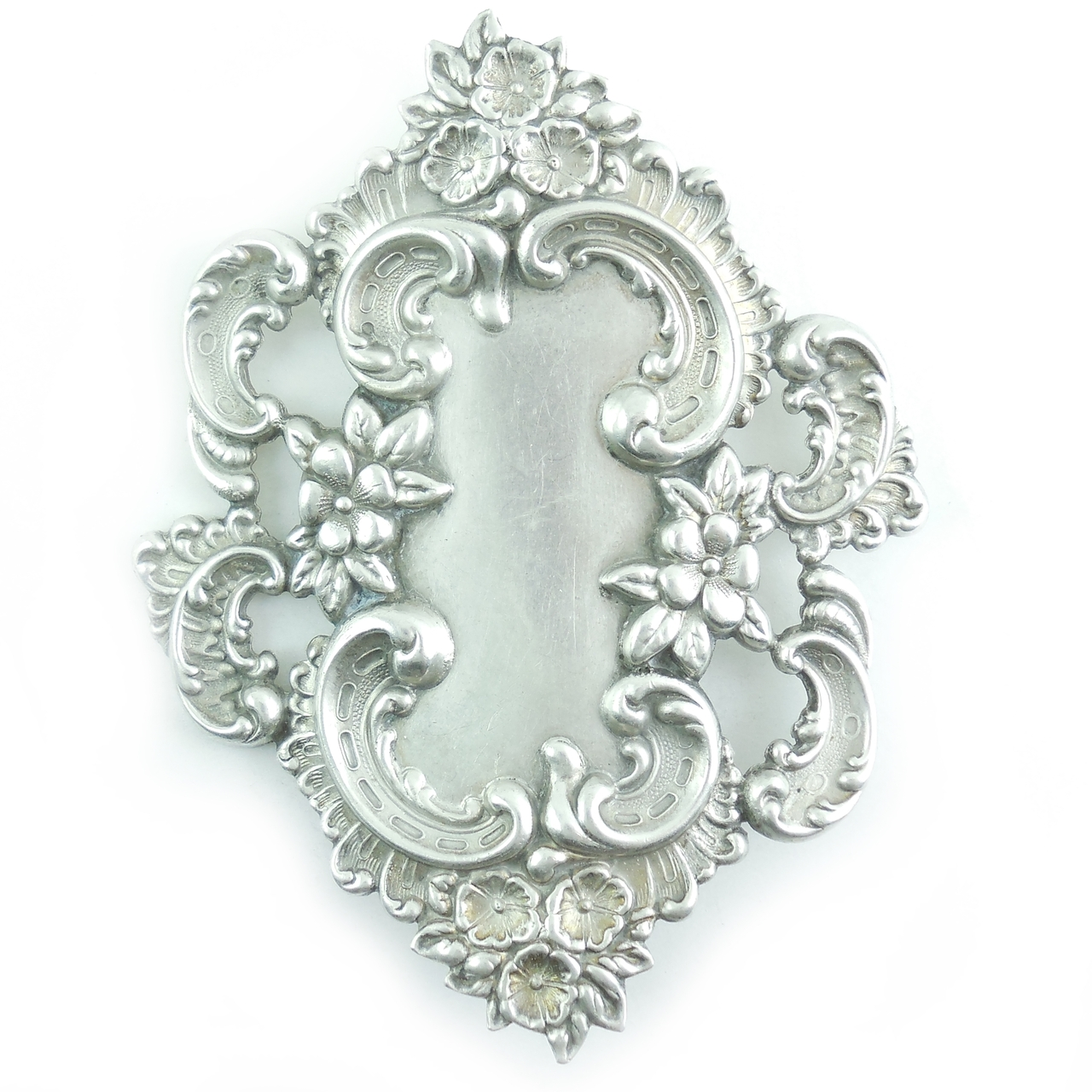 Antique Gorham Whiting Buttercup Edwarian Sterling Silver Sash Dress Buckle