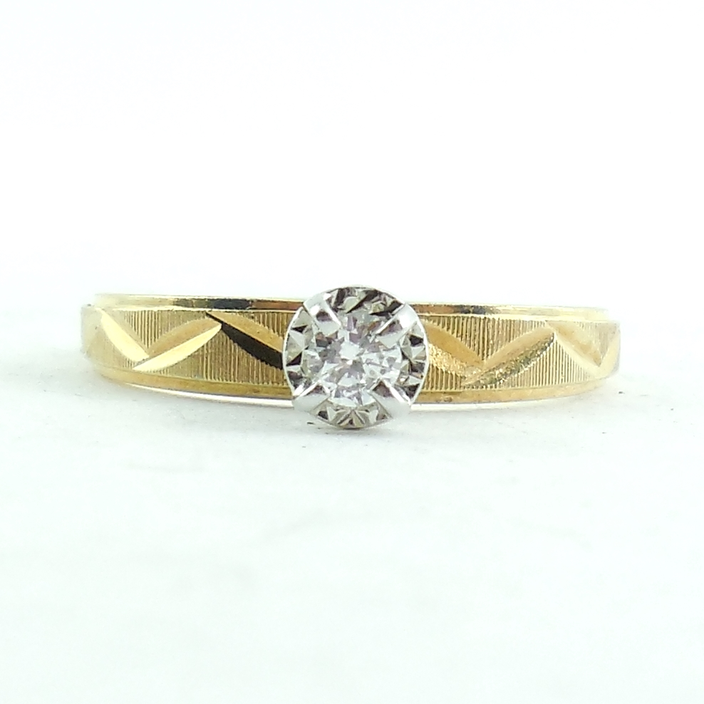 Vintage 14k Yellow Gold .15 Carat Diamond Ring14k Yellow Gold .15 Ct Quality Vs Diamond Tall Ring Size 6