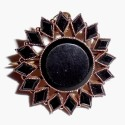 Antique Victorian 14k Gold And Black Jet Onyx Pendant Pin Mourning Jewelry