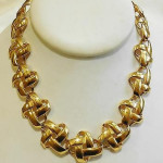 Large Chunky Vintage Anne Klein Collar Toggle Necklace