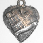 Antique Vintage 1930s Art Deco French Notre Dame France Pendant Charm Fob