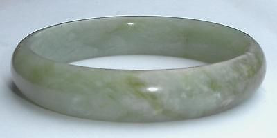 Vintage Hand Cut Chunky Mutton Jadeite Bangle Bracelet Medium Natural Treated Or Man Made