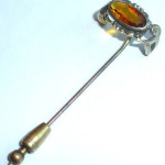 Antique Victorian Edwardian 1909 14m Large Jeweled Stickpin