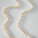 Vintage Cultured Pearls Necklace And 14k Gold Clasp 18 Inch Long