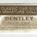 Small Sterling Silver Bar Vintage Bentley Car 2.6g For Pendant Charm Or Fob