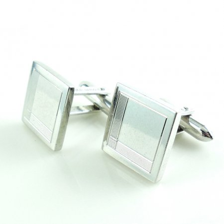 Vintage Lamode Sterling Silver Mens Swivel Cufflinks Never Monogrammed