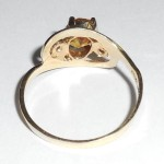 14K yellow gold honey amber natural citrine ring