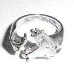 Vintage Stylized Bull Sterling Silver Bypass Ring Mens Womens Taurus Adj 7 7.5 8