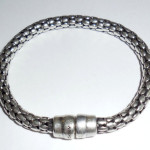 Older Donna Karan Dkny 6mm Silver Fashion Bracelet Medium 7.5 Inch Long