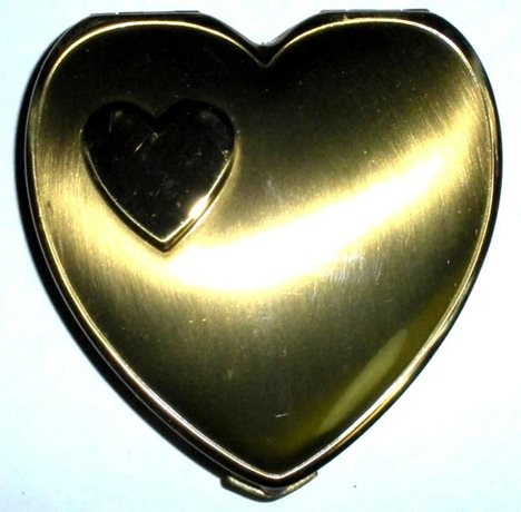 Vintage World War Ii 1940s Art Deco Never Used Sweetheart Compact Orig Box Puff
