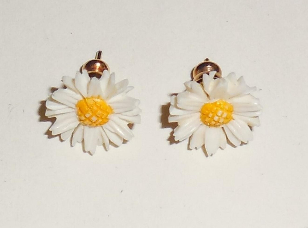 kellinsilver sterling com gold daisy stud studs posts earrings silver